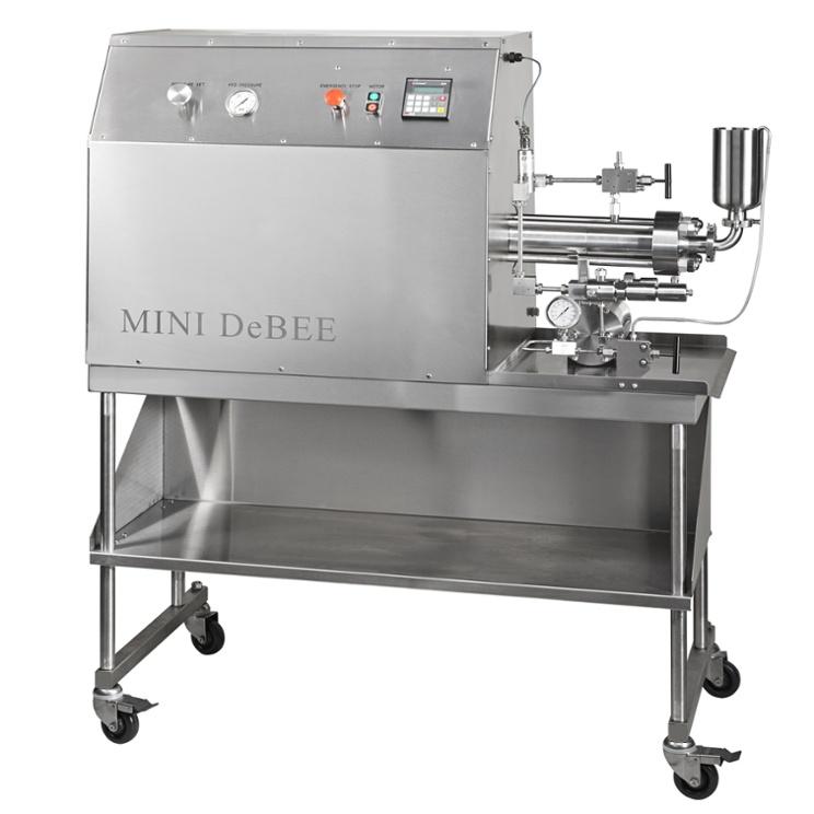 Homogeneizador de alta pressão Mini DeBEE, até 45.000 psi / 3.100 bar, para redução de tamanho de partículas até a faixa nanométrica, disrupção de células, nano / micro emulsificação, dispersão, etc.