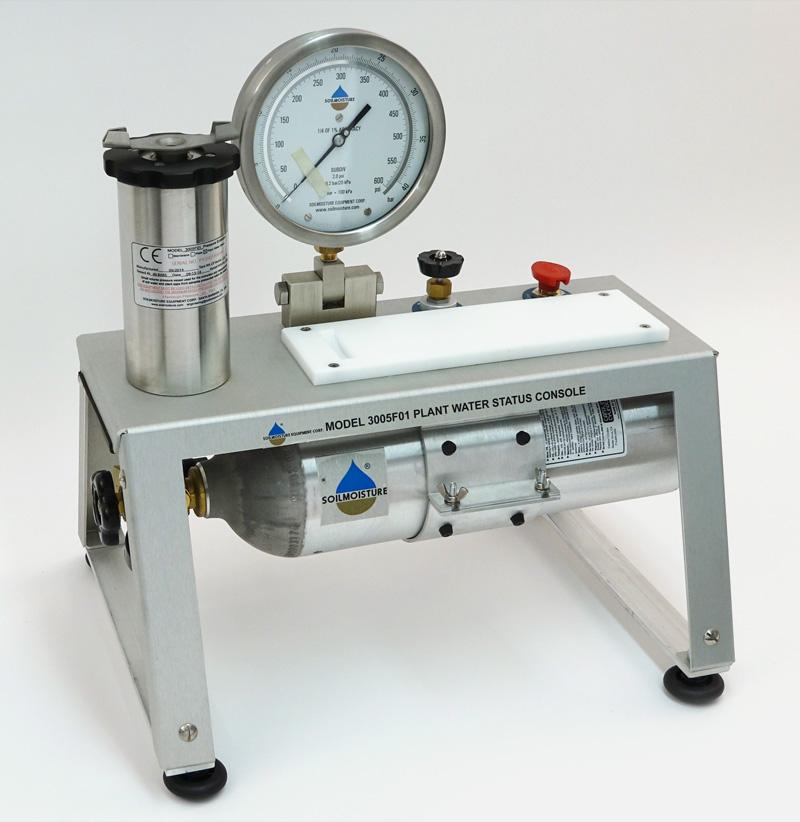 Câmaras (bombas) de Schölander / medidor de potencial hídrico de folhas